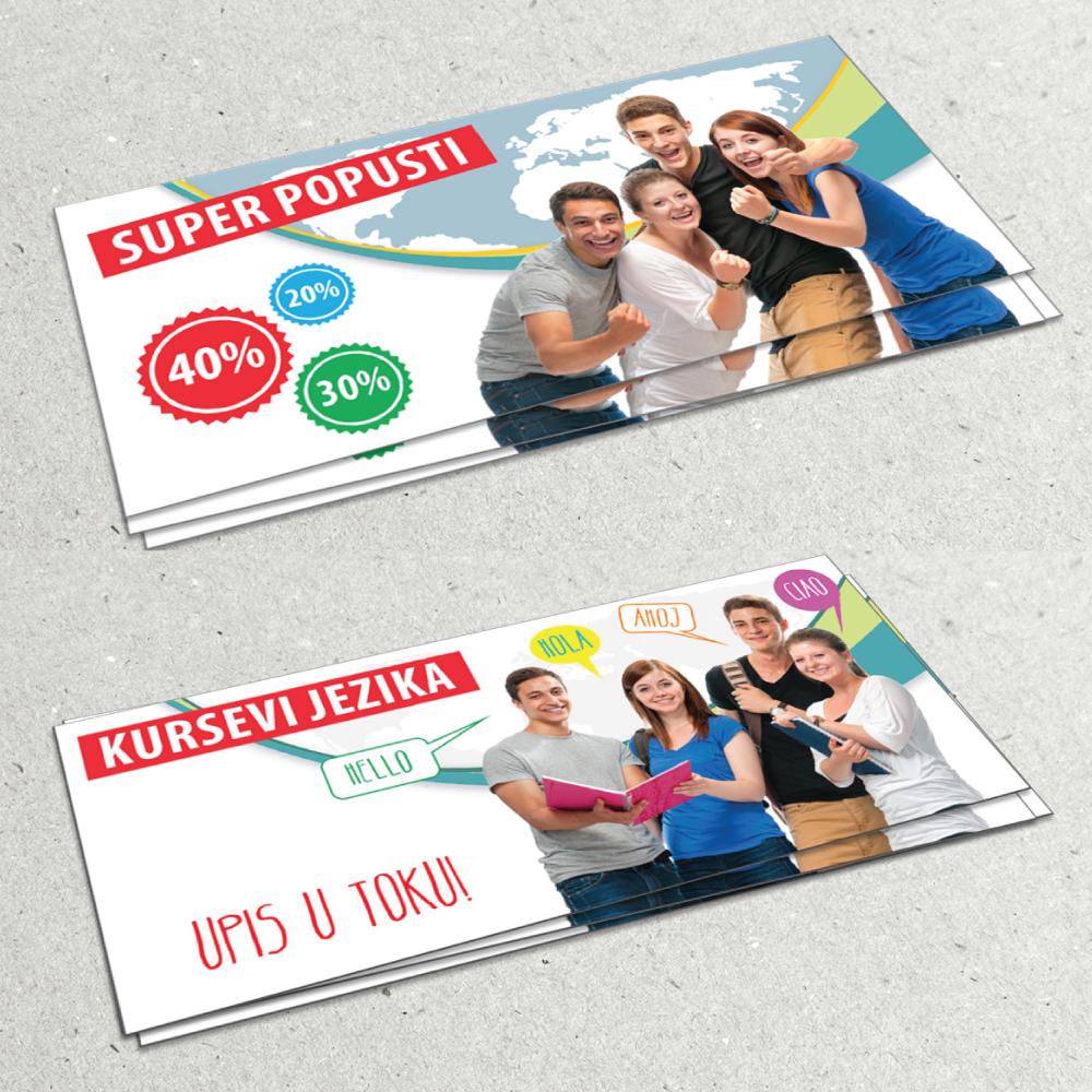 maja bundalo graphic and web design flyer for language school